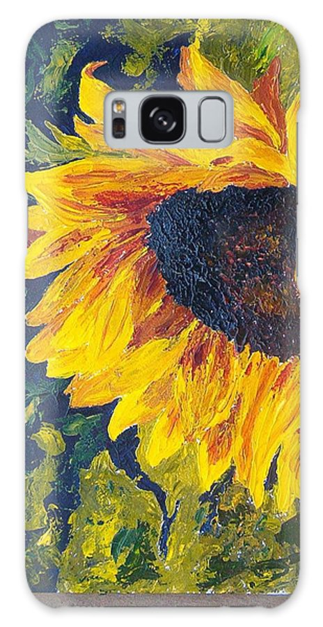 Galaxy S8 Case featuring the painting Sunflower by Tami Booher