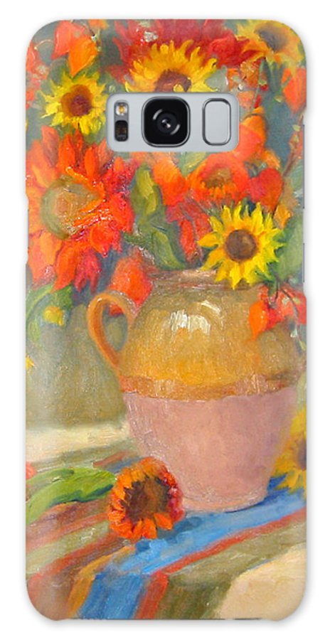 Sunflowers Galaxy S8 Case featuring the painting Sunflowers And More by Bunny Oliver