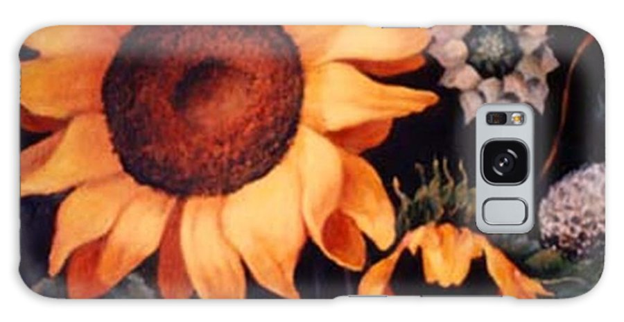 Sunflowers Paintings Galaxy S8 Case featuring the painting Sunflowers And More Sunflowers by Jordana Sands
