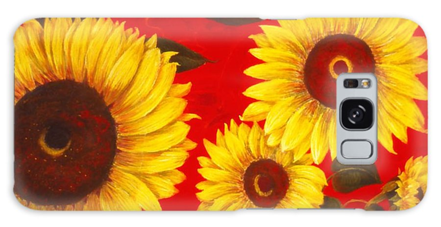 Flowers Galaxy S8 Case featuring the painting Sunflowers IIi by Mary Erbert