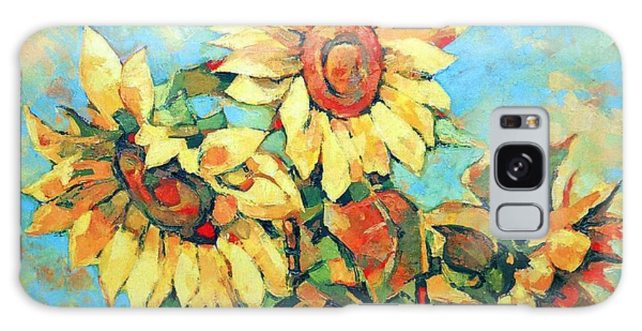 Sunflowers Galaxy S8 Case featuring the painting Sunflowers by Iliyan Bozhanov