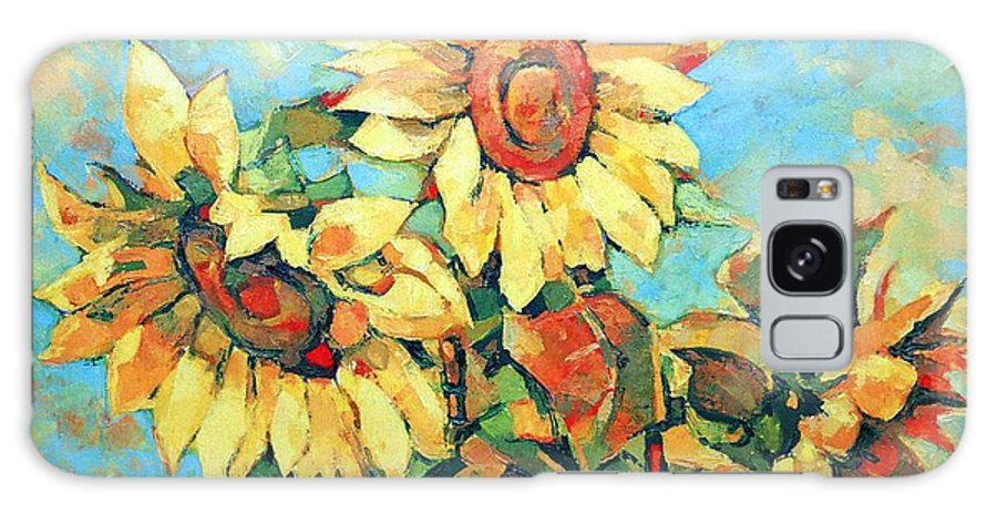 Sunflowers Galaxy Case featuring the painting Sunflowers by Iliyan Bozhanov