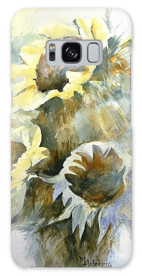 Sunflower Painting Galaxy S8 Case featuring the painting Sunflowers Ill by Madeleine Holzberg