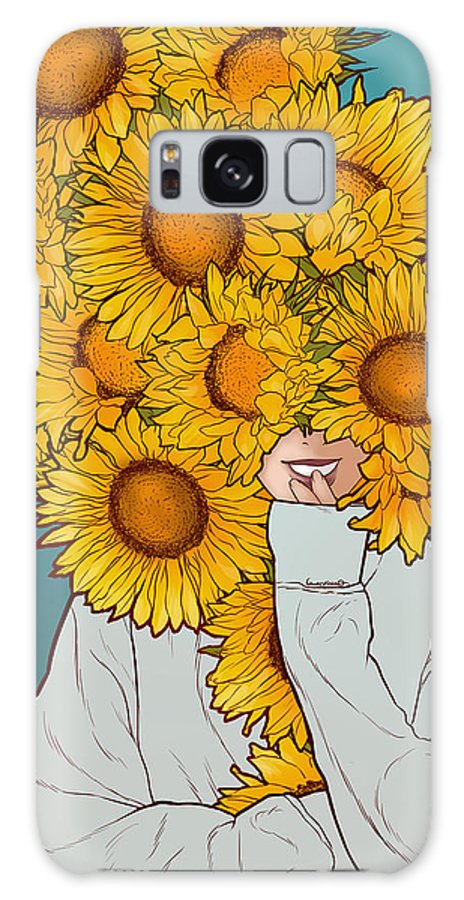 Sunflowers Galaxy S8 Case featuring the digital art Sunflowers by Paola Morpheus
