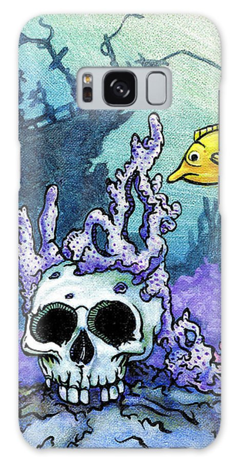 Day Of The Dead Galaxy S8 Case featuring the painting Sunken Head by Jacob Medina