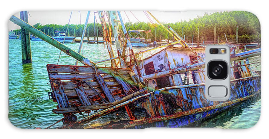Fishing Boat Galaxy S8 Case featuring the photograph Sunken Ship by Alison Belsan Horton