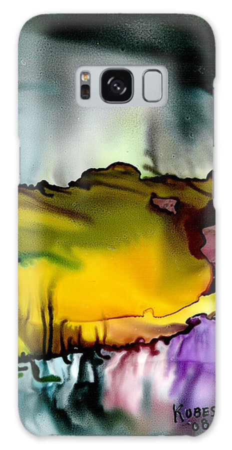 Abstract Galaxy S8 Case featuring the mixed media Sunless Sea by Susan Kubes
