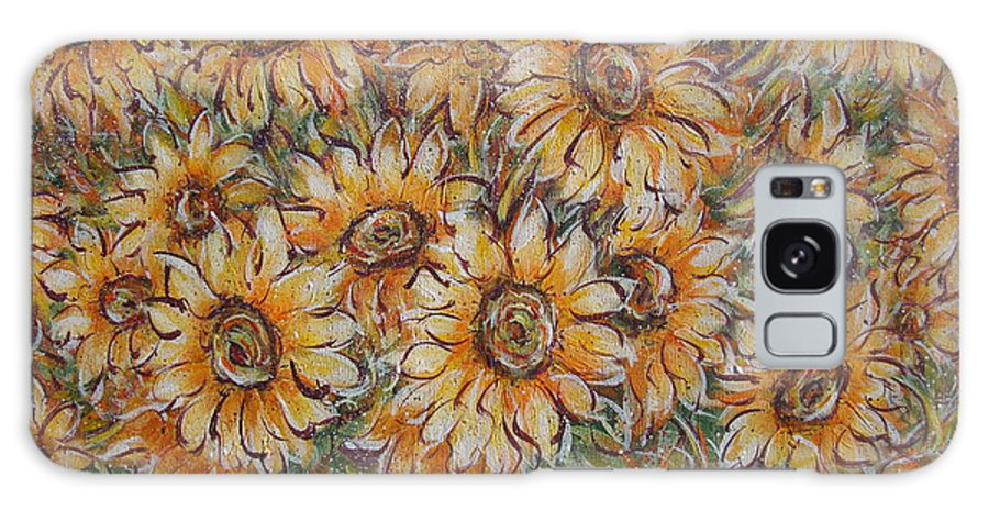 Flowers Galaxy S8 Case featuring the painting Sunlight Bouquet. by Natalie Holland