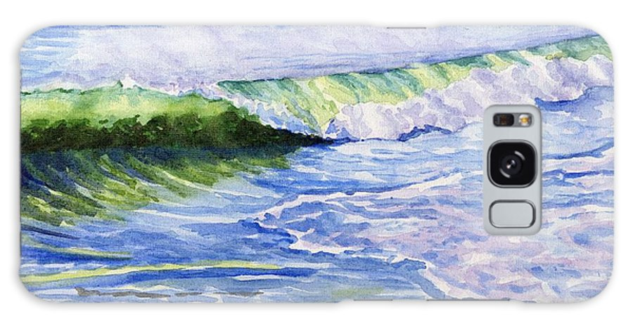Seascape Galaxy S8 Case featuring the painting Sunlit Surf by Sharon E Allen