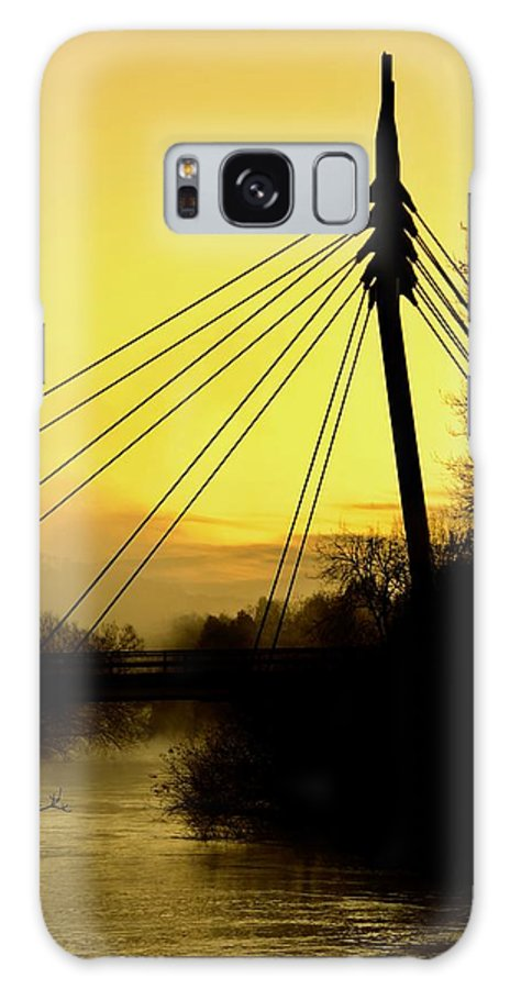 Cable Bridge Galaxy S8 Case featuring the photograph Sunny Bridge by Phil Child