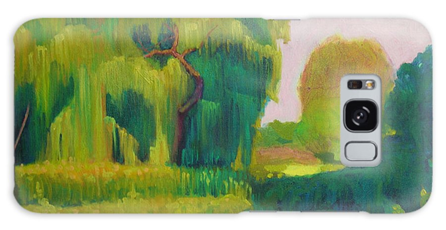 Landscape Galaxy Case featuring the painting Sunny Day Indian Boundary Park by David Dozier