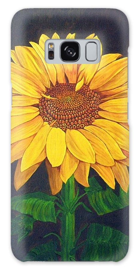Sunflower Galaxy S8 Case featuring the painting Sunny Flower by Brandy House
