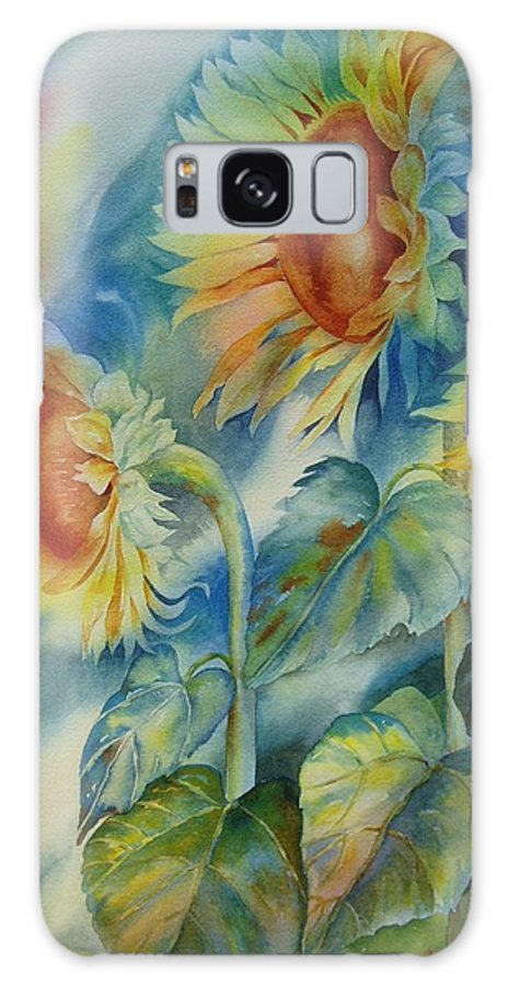 Sunflowers Galaxy S8 Case featuring the painting Sunny Flowers by Tara Moorman