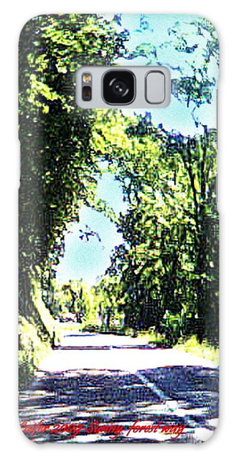 Landscape Galaxy S8 Case featuring the digital art Sunny Forest Way by Dr Loifer Vladimir