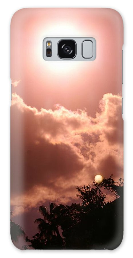 Nature Galaxy S8 Case featuring the photograph sunny Moon by Florene Welebny
