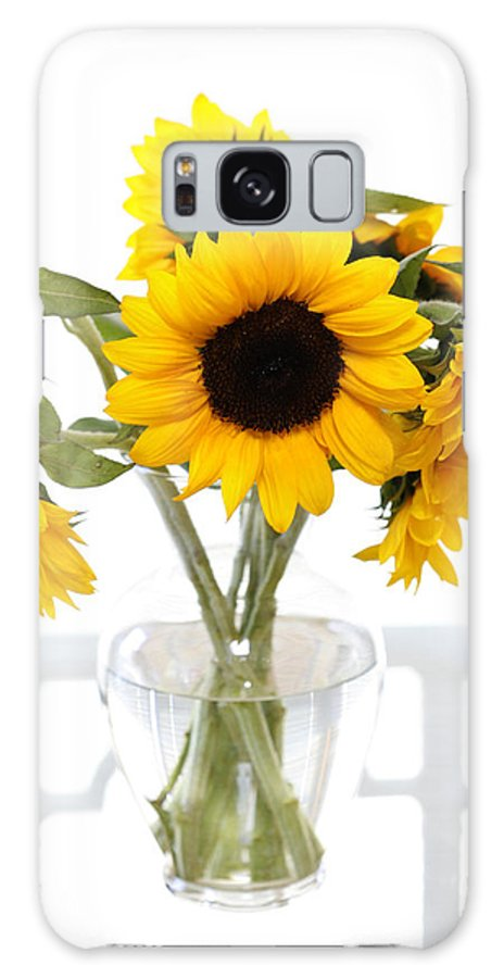 Sunflower Galaxy S8 Case featuring the photograph Sunny Vase Of Sunflowers by Marilyn Hunt