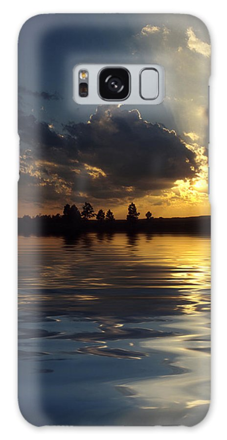 Sunset Galaxy S8 Case featuring the photograph Sunray Sunset by Jerry McElroy