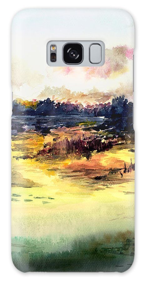 Landscape Water Color Sky Sunrise Water Watercolor Digital Mixed Media Galaxy S8 Case featuring the painting Sunrise by Anil Nene