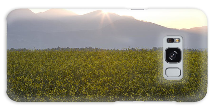 Brnik Galaxy S8 Case featuring the photograph Sunrise Bursting Over The Kamnik Alps And Rapeseed by Ian Middleton