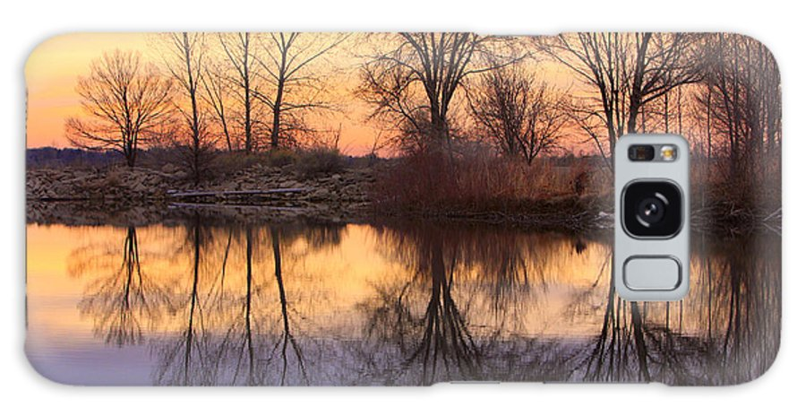 Sunrise Galaxy S8 Case featuring the photograph Sunrise Lake Reflections by James BO Insogna