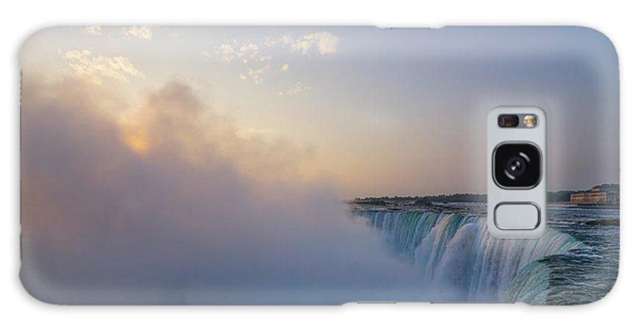 Waterfalls Galaxy S8 Case featuring the photograph Sunrise Niagara Falls by Steven R Breininger