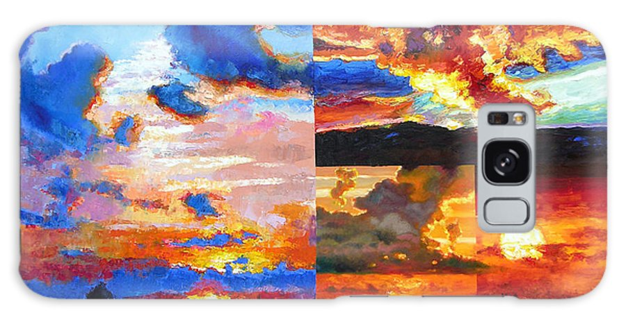 Sunrise Galaxy S8 Case featuring the painting Sunrise Sunset Sunrise by John Lautermilch