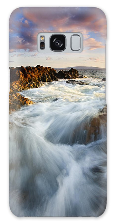 Hawaii Galaxy S8 Case featuring the photograph Sunrise Surge by Mike Dawson