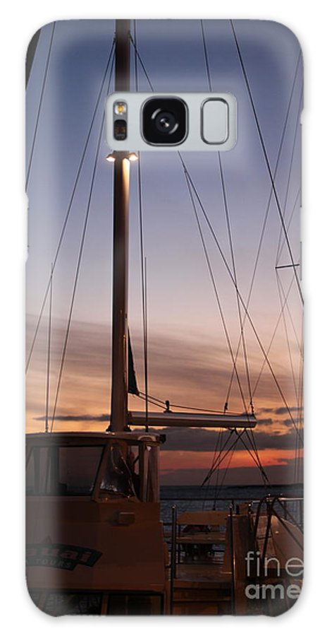 Sunset Galaxy Case featuring the photograph Sunset And Sailboat by Nadine Rippelmeyer