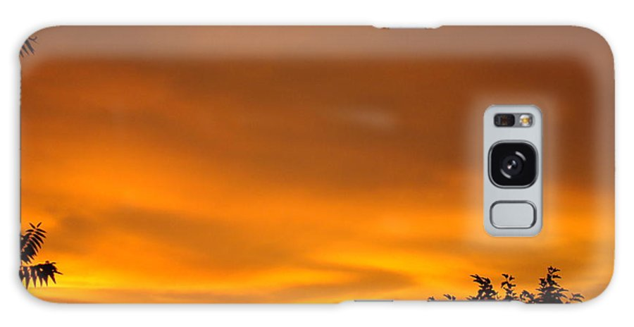 Sunset Galaxy S8 Case featuring the photograph Sunset Art Prints Orange Glowing Western Sunset Baslee Troutman by Baslee Troutman
