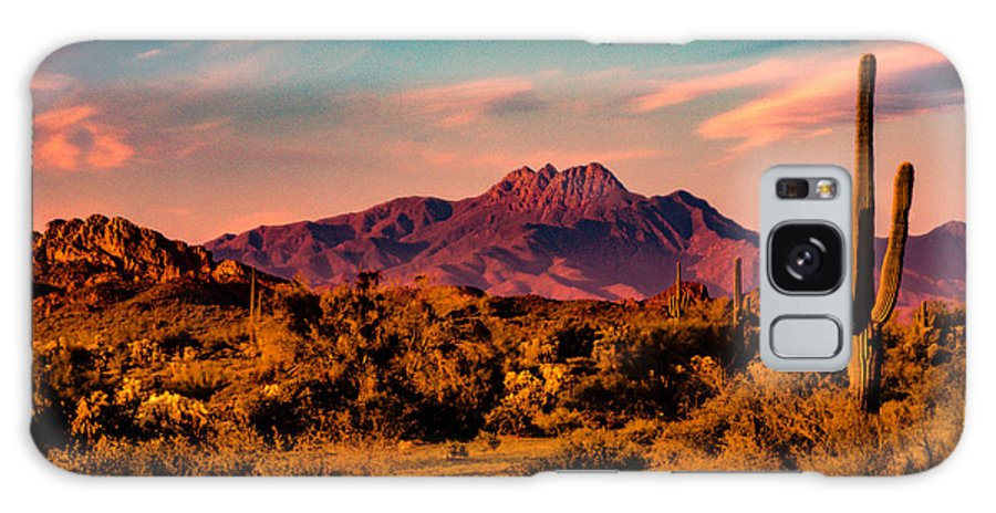 Arizona Galaxy S8 Case featuring the photograph Sunset At Four Peaks by Paul LeSage