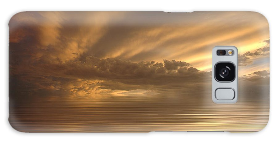 Sunset Galaxy S8 Case featuring the photograph Sunset At Sea by Jerry McElroy