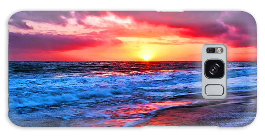 Sunset At The Strands Beach Galaxy S8 Case featuring the photograph Sunset At Strands Beach by Mariola Bitner