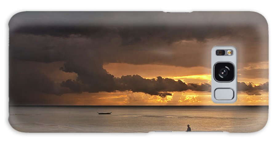 Seascape Galaxy S8 Case featuring the photograph Sunset At Tabuena Beach 2 by George Cabig
