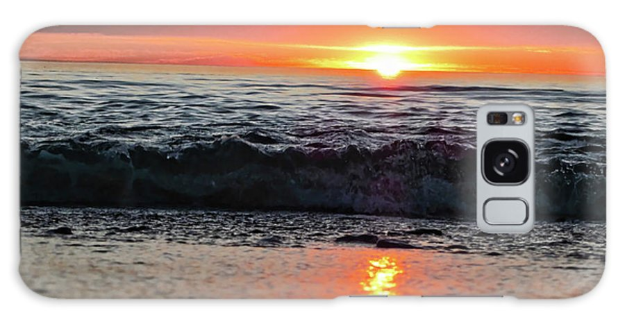 Waves Galaxy S8 Case featuring the photograph Sunset Beach by Douglas Barnard