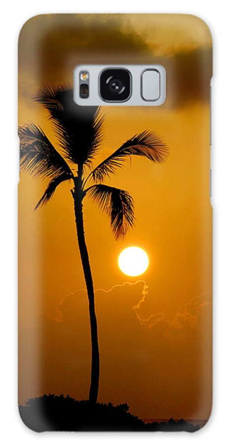 Maui Galaxy S8 Case featuring the photograph Sunset Coconut Palm Maui Hawaii by Pierre Leclerc Photography