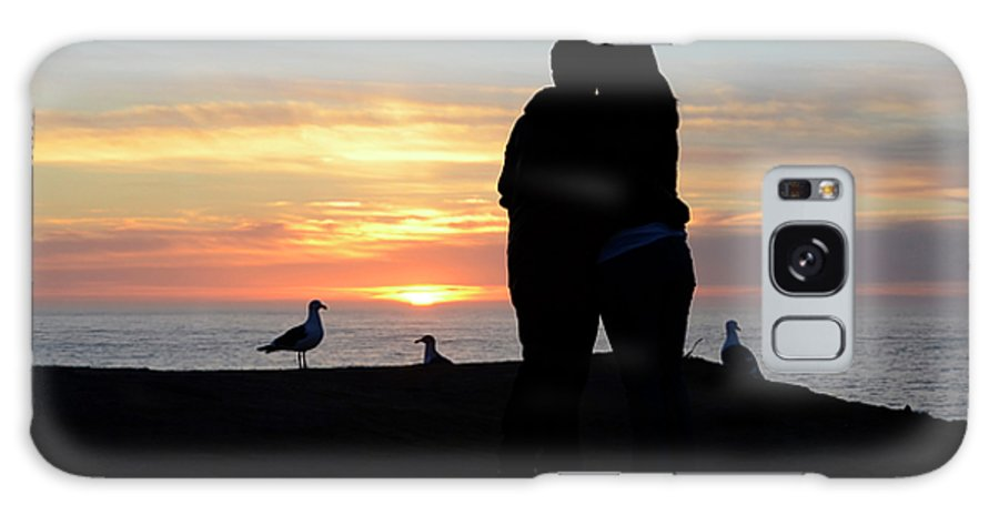 Sunset Galaxy S8 Case featuring the photograph Sunset Couple by Bob Christopher