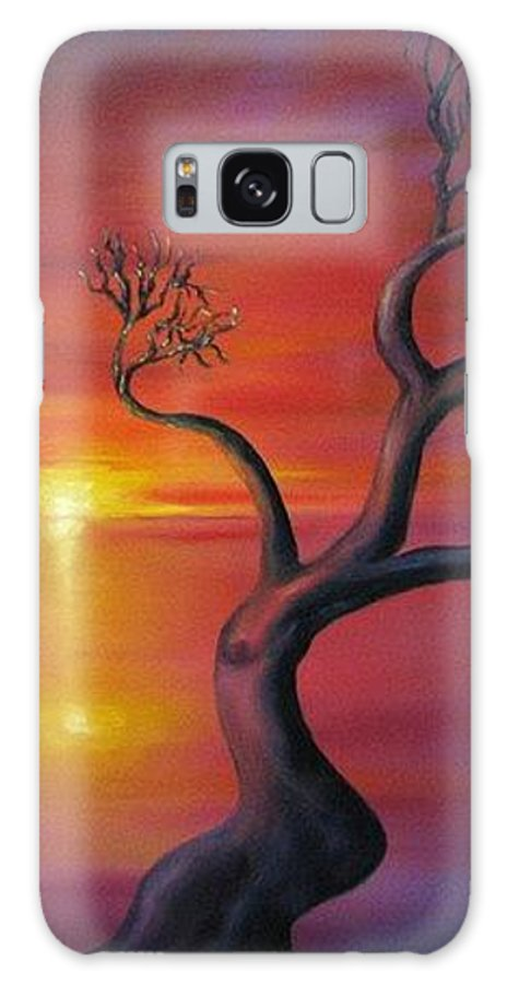 Landscape Galaxy S8 Case featuring the painting Sunset Dance Fantasy Oil Painting by Natalja Picugina