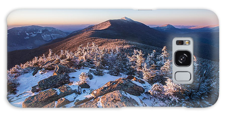 Sunset Glow On Franconia Ridge Galaxy S8 Case featuring the photograph Sunset Glow On Franconia Ridge by Chris Whiton