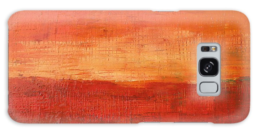 Abstract Galaxy Case featuring the painting Sunset by Habib Ayat