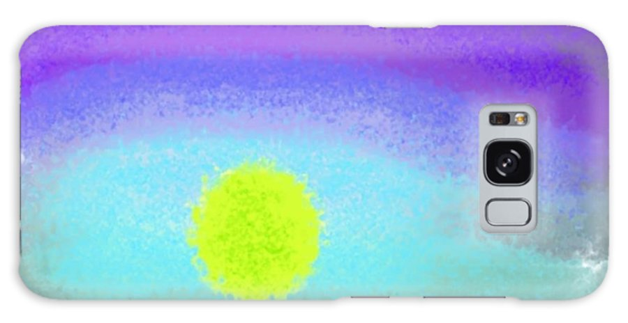 Sunset Galaxy Case featuring the digital art Sunset Heavens by Dr Loifer Vladimir