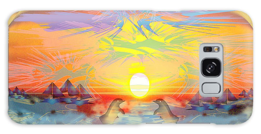 Nature Galaxy S8 Case featuring the digital art Sunset IIi by George Pasini