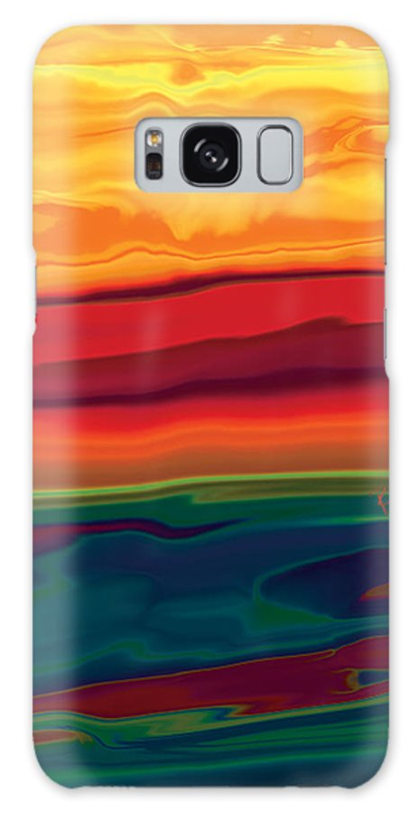 Art Galaxy Case featuring the digital art Sunset In Ottawa Valley 1 by Rabi Khan
