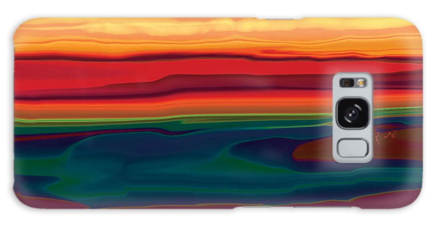 Art Galaxy S8 Case featuring the digital art Sunset In Ottawa Valley by Rabi Khan