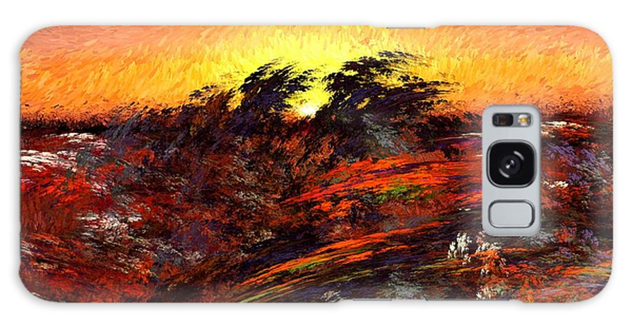 Abstract Digital Painting Galaxy S8 Case featuring the digital art Sunset In Paradise by David Lane