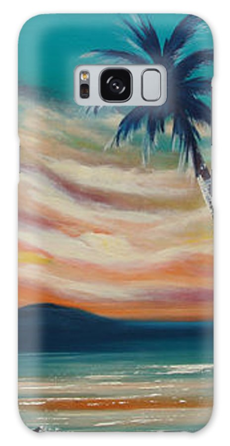 Sunset Galaxy S8 Case featuring the painting Sunset In Paradise by Gina De Gorna