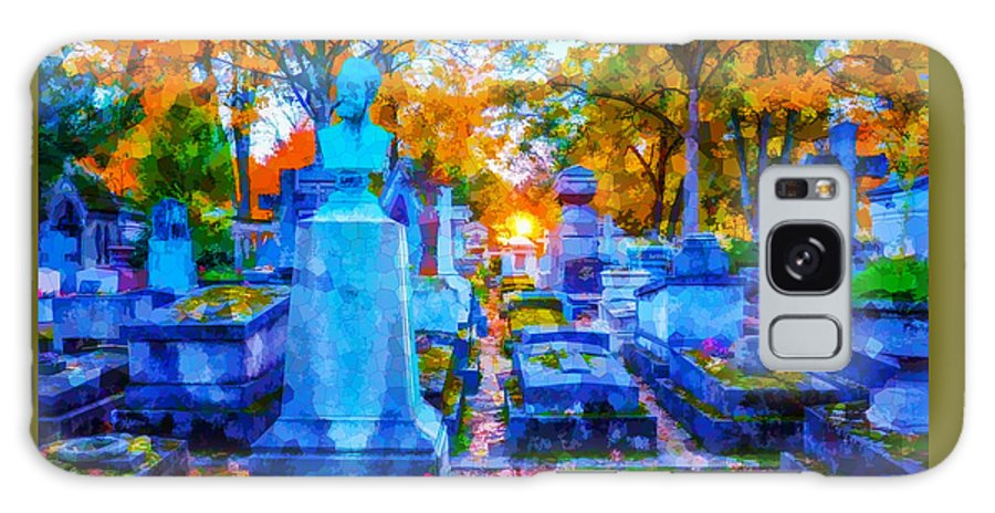 Sunset Galaxy S8 Case featuring the photograph Sunset In Pere Lachaise Abstraction by Ursa Davis