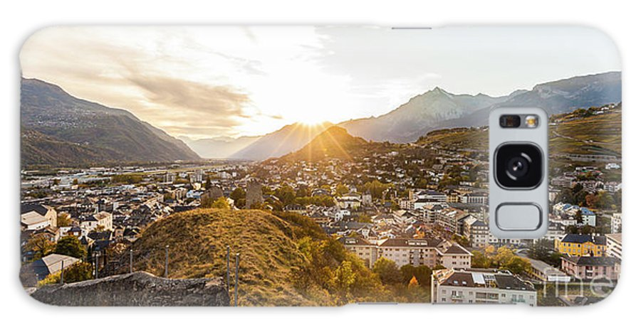 Architecture Galaxy S8 Case featuring the photograph Sunset In Sion by Werner Dieterich