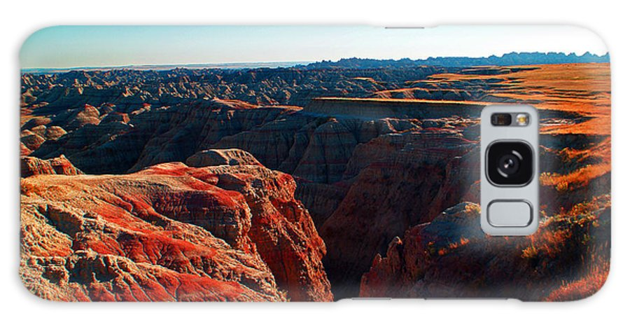 Badlands National Park Landscape Galaxy S8 Case featuring the photograph Sunset In The Badlands by Glenn W Smith