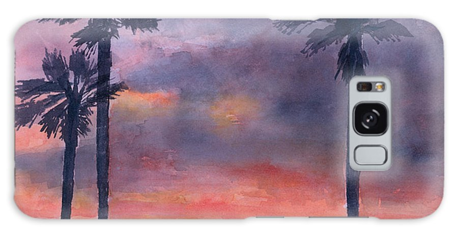 Sunset Galaxy S8 Case featuring the painting Sunset In The Tropics by Arline Wagner