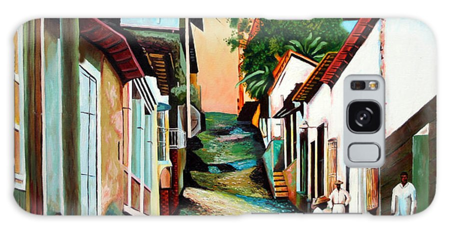 Cuban Art Galaxy S8 Case featuring the painting Sunset by Jose Manuel Abraham